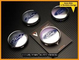 Ford Logo Amblem Jant Göbeği  Göbek Kapak Seti