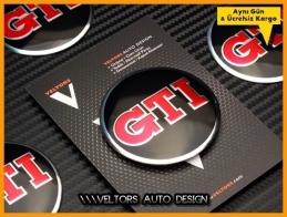 VW Gti Jant Göbeği Göbek Kapak Logo Amblem Seti