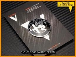 Alfa Romeo Yeni Nesil Siyah Direksiyon Logo Amblem