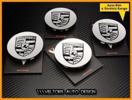 Porsche Logo Amblem Series Jant Göbeği Göbek Kapak Seti
