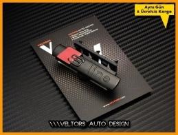 Audi S Line Black Matte Ön Izgara Logo Amblem