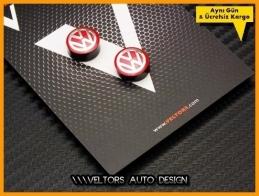 VW Kırmızı Anahtarlık Kumanda Logo Amblem Seti