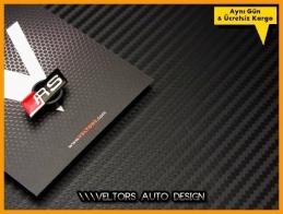 Audi RS Black / Siyah Direksiyon Logo Amblem