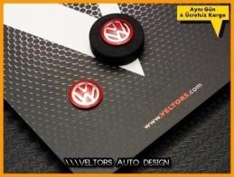 VW Yeni Nesil Kırmızı Anahtarlık Kumanda Anahtar Logo Amblem Seti
