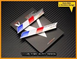Peugeot Sport Yan Logo Amblem Seti