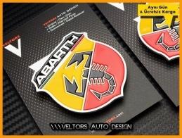 Fiat ABARTH Yan Logo Amblem Seti