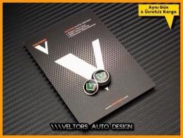 Skoda VRS RS Anahtarlık Kumanda Logo Amblem Seti