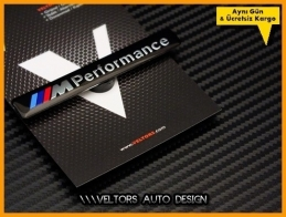 BMW M Performance Torpido Kokpit Plaket Logo Amblem