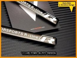 VW R Line Motorsports R Logo Amblem Seti