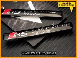 Audi RS Motorsports Logo Amblem Seti