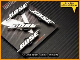 VW BOSE Hoparlör Stereo Logo Amblem Seti