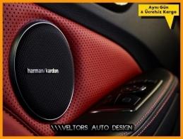 Porsche Harman Kardon Stereo Hoparlör Logo Amblem Seti