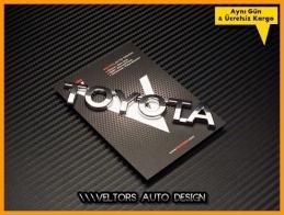 Toyota Araç Bagaj Yazı Logo Amblem