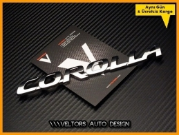 Toyota Corolla Bagaj Yazı Logo Amblem