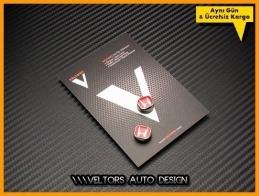 Honda Red Anahtarlık Kumanda Logo Amblem Seti