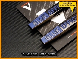 Mercedes Blue Efficiency Yan Logo Amblem Seti