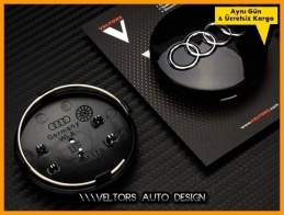 Audi Logo Amblem Jant Göbeği  Göbek Kapak Seti