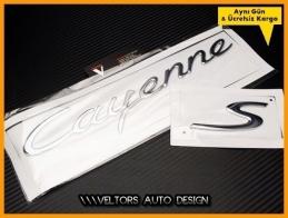 Porsche Cayenne S  Bagaj Yazı Logo Amblem