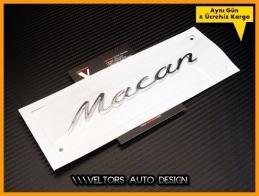 Porsche Macan Bagaj Yazı Logo Amblem