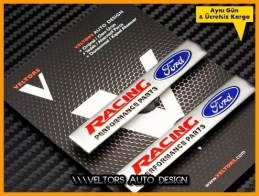 Ford Racing Koltuk Döşeme Logo Amblem Seti