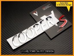 Mini Cooper S Bagaj Yaz Logo Amblem