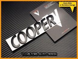 Mini Cooper Black / Siyah Bagaj Yazı Logo Amblem
