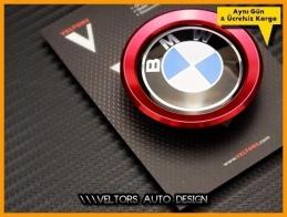 BMW Kırmızı Direksiyon Airbag Logo Amblem Halka Çerçeve