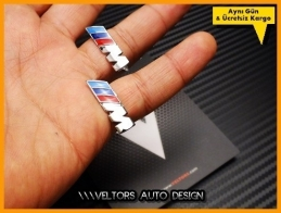 BMW M Koltuk Döşeme Logo Amblem Seti