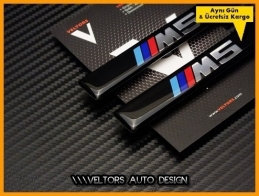 BMW 5 Serisi Yan M5 Logo Amblem Seti