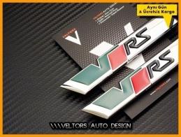 Skoda VRS RS Yan Çamurluk Logo Amblem Seti