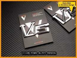 Ford V6 Araç Yan Logo Amblem Seti