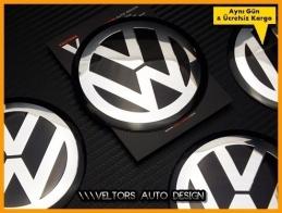 VW Logo Amblem Jant Göbeği  Göbek Kapak Logo Amblem Seti 9 cm