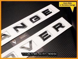 Range Rover Siyah Black Kaput Bagaj Yazı Logo Amblem