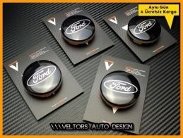Ford Logo Amblem Orjinal Jant Göbeği Göbek Kapak Seti