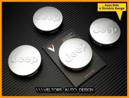 Jeep Logo Amblem Jant Göbeği Göbek Kapak Seti