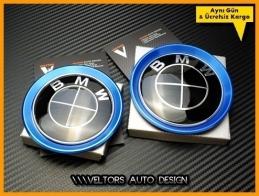 BMW Ön Kaput Arka Bagaj Logo Amblem Halka Seti