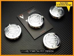 Chrysler Logo Amblem Jant Göbeği Göbek Kapak Seti