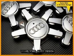 Audi Logo Amblem Q7 Jant  Göbek Kapak Seti