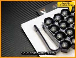 Audi Paino Black Jant Bijon Kapak Seti