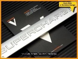Land Rover Supercharged Bagaj Yazı Logo Amblem