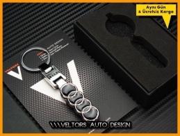 Audi Logo Amblem Özel Krom Audi Anahtarlık