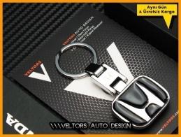 Honda Logo Amblem Özel Krom Honda Anahtarlık