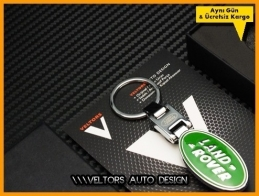 Land Rover Logo Amblem Özel Krom Land Rover Anahtarlık