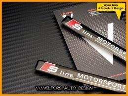 Audi S Line Motorsports Logo Amblem Seti