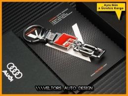 Audi A1 Logo Amblem RS1 Özel Krom Anahtarlık