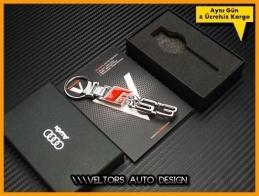 Audi A3 Logo Amblem RS3 Özel Krom Anahtarlık