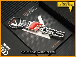 Audi A5 Logo Amblem RS5 Özel Krom Anahtarlık