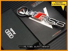 Audi A6 Logo Amblem RS6 Özel Krom Anahtarlık
