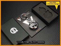 Volvo Logo Amblem Özel Krom Anahtarlık