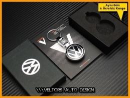 VW Logo Amblem Özel Krom Anahtarlık